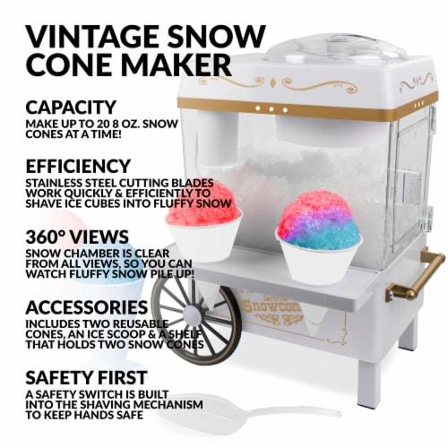 Nostalgia Snow Cone Maker - White Perspective: back
