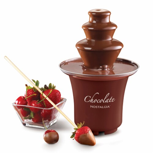 Nostalgia 3-Tier Chocolate Fondue Fountain Perspective: back