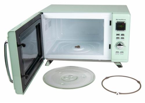Nostalgia Mid-Century Retro Microwave - Seafoam Green Perspective: back