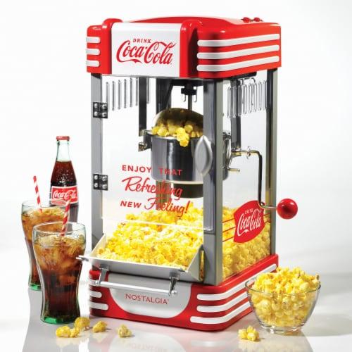 Nostalgia Coca-Cola Kettle Popcorn Maker Perspective: back