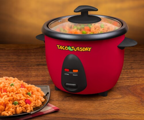 Taco Tuesday Mexican Rice Cooker & Steamer Perspective: back