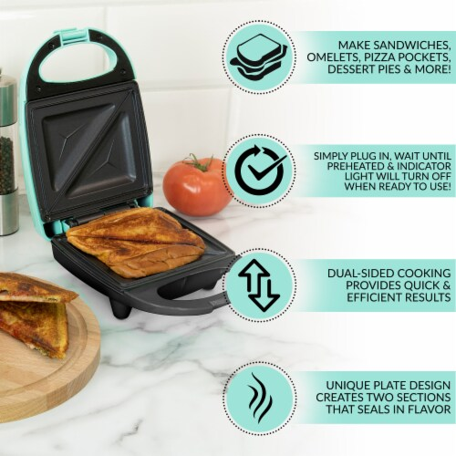 Nostalgia MyMini Personal Sandwich Maker - Turquoise Perspective: back
