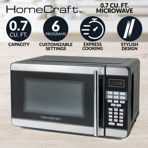 HomeCraft Microwave Oven Perspective: back