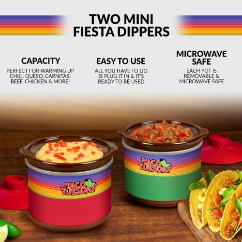 Taco Tuesday Mini Fiesta Dippers Perspective: back