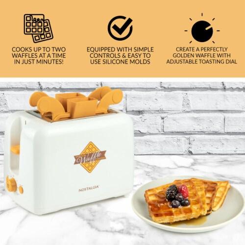Nostalgia Vertical Waffle Toaster Perspective: back