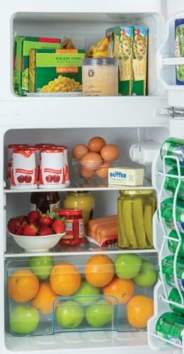Igloo Double Door Refrigerator With Freezer - Black Perspective: back