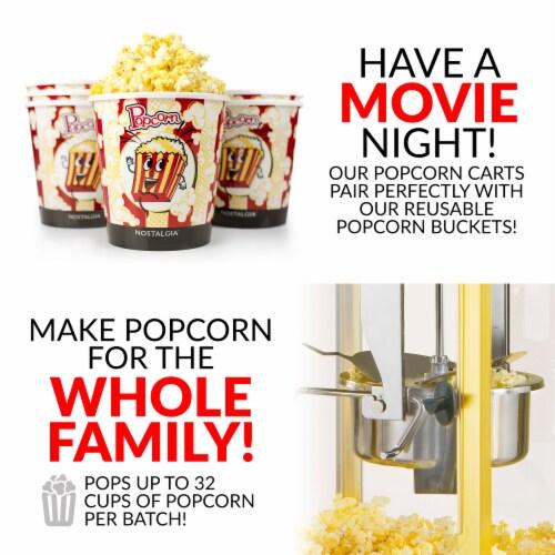 Nostalgia Vintage Professional Popcorn Cart Perspective: back