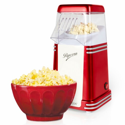 Nostalgia Electrics Retro Hot Air Popcorn Maker - Red Perspective: back