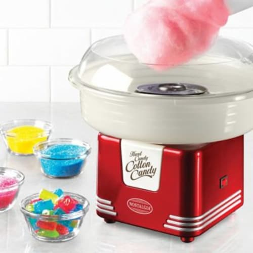 Nostalgia Retro Hard and Sugar Free Candy Cotton Candy Maker Perspective: back