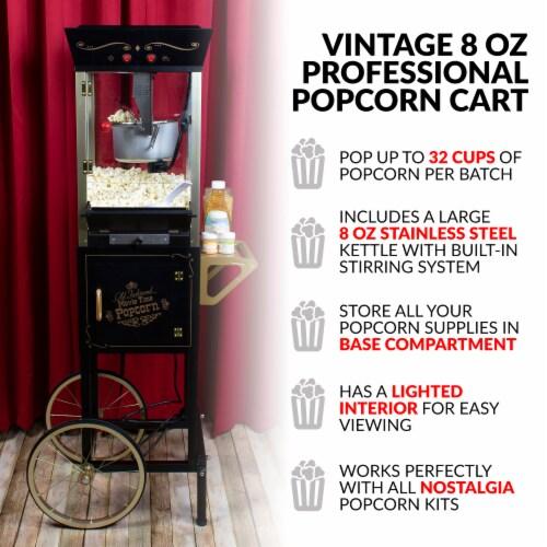 Nostalgia Vintage Commercial Popcorn Cart Perspective: back