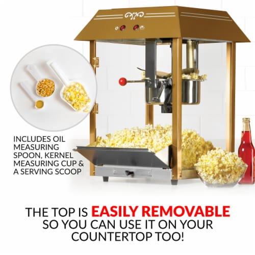 Nostalgia Red Vintage Commercial Popcorn Cart Perspective: back