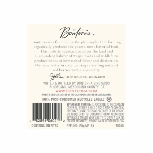 Bonterra Rose Perspective: back