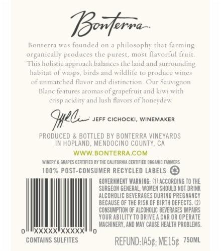Bonterra Sauvignon Blanc Perspective: back