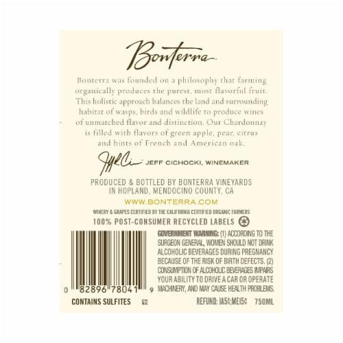 Bonterra Chardonnay Perspective: back