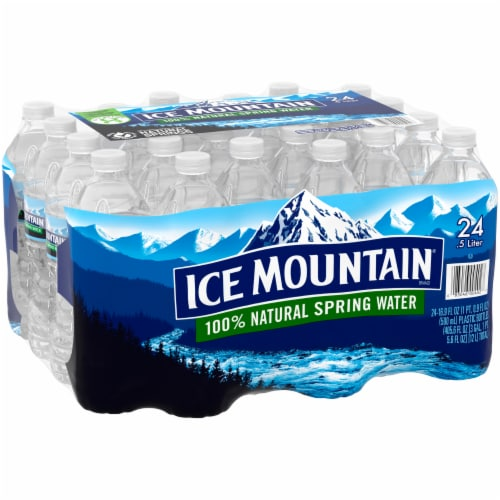 Ice Mountain Natural Spring Water Perspective: back