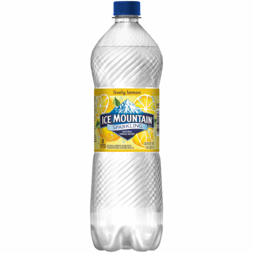 Ice Mountain Lemon Sparkling Water Perspective: back