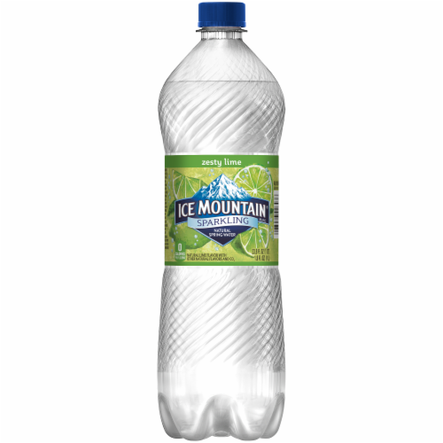 Ice Mountain Sparkling Zesty Lime Natural Spring Bottled Water Perspective: back