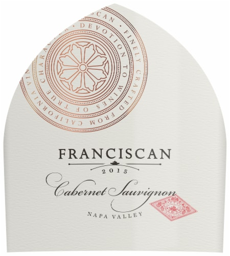 Franciscan Cabernet Sauvignon Red Wine Perspective: back