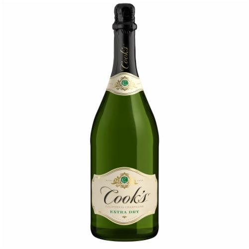 Cook's Extra Dry Champagne White Sparkling Wine Perspective: back