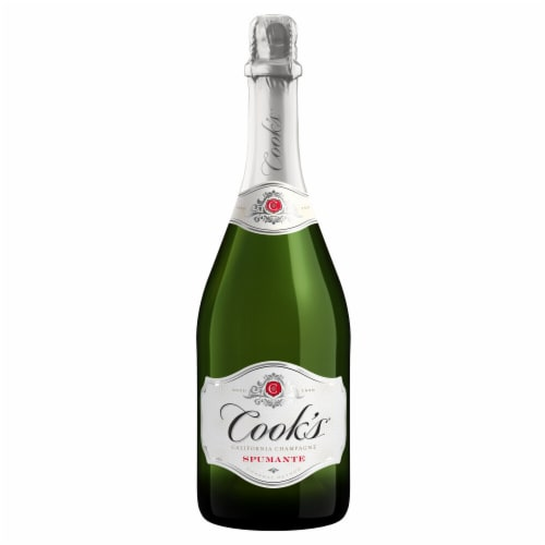 Cook's Spumante Champagne Sparkling White Wine Perspective: back