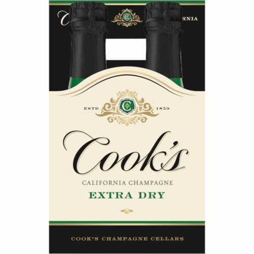 Cook's Extra Dry Sparkling California Champagne Perspective: back