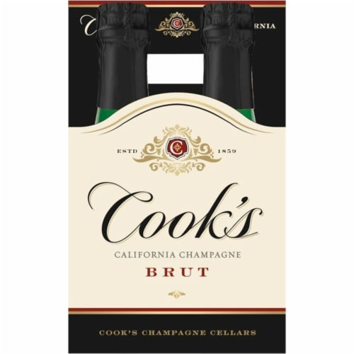 Cook's Brut California Champagne Sparkling Wine Perspective: back