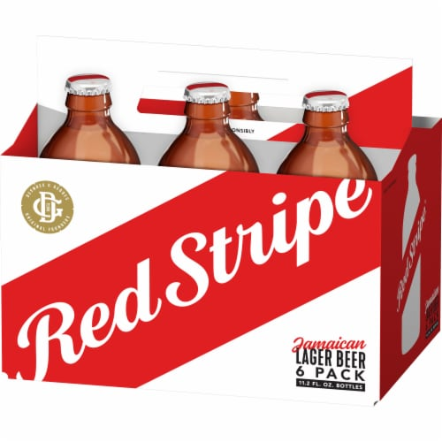 Red Stripe Jamaican Lager Perspective: back