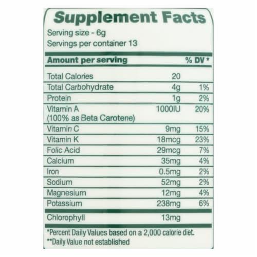 Green Foods  Dr Hagiwara Green Magma Barley Grass Juice Powder Perspective: back