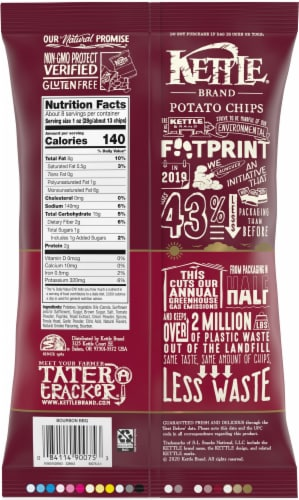 Kettle Brand Gluten Free Bourbon BBQ Potato Chips Perspective: back