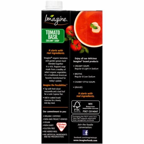 Imagine Organic Creamy Tomato Basil Soup Perspective: back