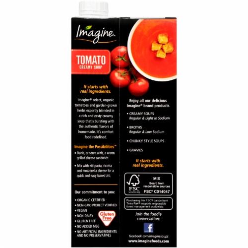 Imagine Organic Creamy Tomato Soup Perspective: back