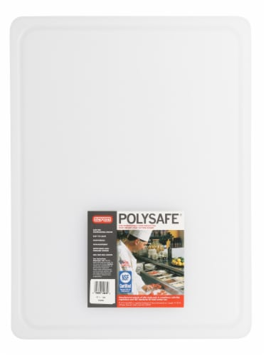 Dexas PolySafe Large Cutting Board - White Perspective: back