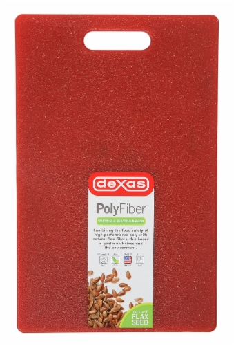 Dasex Polyfiber Flax Cutting Board - Red Perspective: back