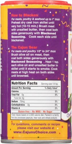 Cajun Choice Blackened Seasoning Perspective: back