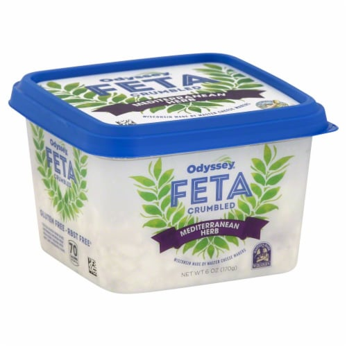 Odyssey Mediterranean Herb Crumbled Feta Cheese Perspective: back