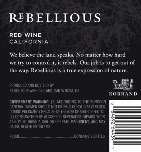 Rebellious Red Wine Perspective: back