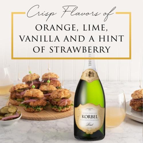 Korbel Brut California Champagne Perspective: back
