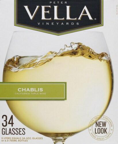 Peter Vella Chablis White Box Wine Perspective: back