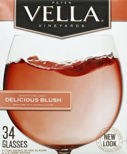 Peter Vella Vineyards Blush Wine Perspective: back