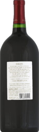 Gallo Family Vineyards Cabernet Sauvignon Red Wine Perspective: back