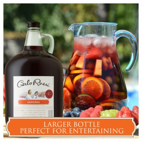 Carlo Rossi Sangria Sweet Red Wine Perspective: back
