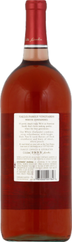 Gallo Family Vineyards White Zinfandel Wine Perspective: back