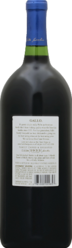 Gallo Family Vineyards Merlot Red Wine Perspective: back