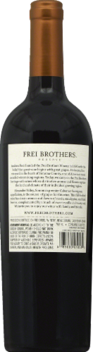 Frei Brothers Reserve Sonoma Cabernet Sauvignon Red Wine Perspective: back