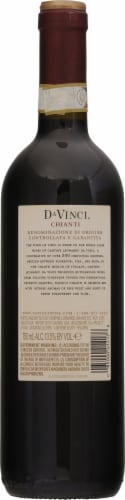Da Vinci Chianti Italian Red Wine Perspective: back