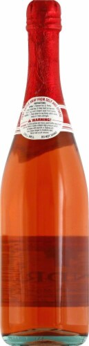 Andre Strawberry Moscato Sparkling Red Wine Perspective: back