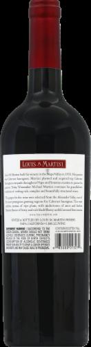 Louis M. Martini Alexander Valley Cabernet Sauvignon Red Wine 750ml Perspective: back