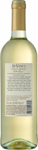 Da Vinci Pinot Grigio Italian White Wine Perspective: back