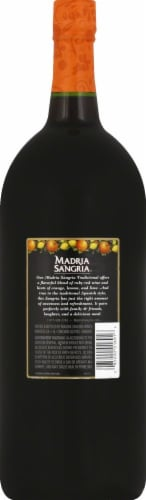 Madria Sangria Red Wine 1.5L Perspective: back