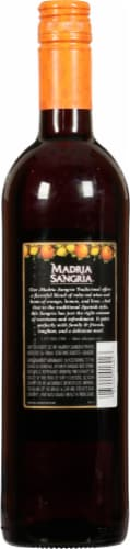 Madria Sangria Red Wine 750ml Perspective: back